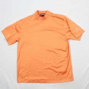 Greg Norman L Mock Neck Chambray Orange Short